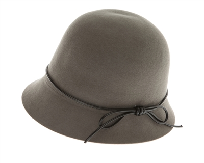 trendy grey felt cloche hat for ladies bd6b5c77803